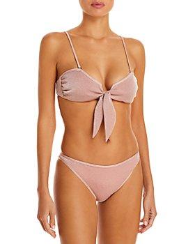 Ramy Brook - Venus Metallic Bikini Top & Isla Metallic Bikini Bottom