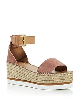 See by Chloé - Women's Glyn Ankle-Strap Platform Wedge Sandals