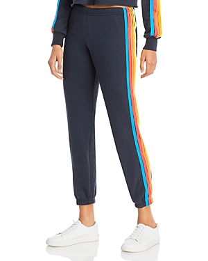 Aviator Nation Rainbow Stripe Sweatpants