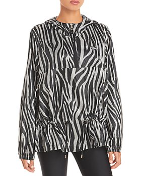 P.E NATION - Rematch Zebra Striped Windbreaker Jacket