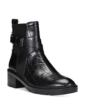 Donald Pliner - Women's Savvy Croc Embossed Leather Booties