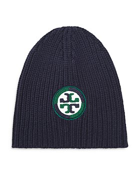 Tory Burch - Color Block Logo Merino Wool Beanie