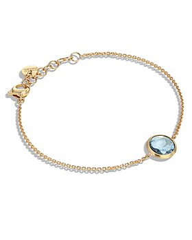Marco Bicego - 18K Yellow Gold Jaipur Color Blue Topaz Chain Bracelet