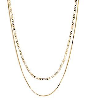 "Luv Aj - Cecelia Double Chain Necklace, 16"""