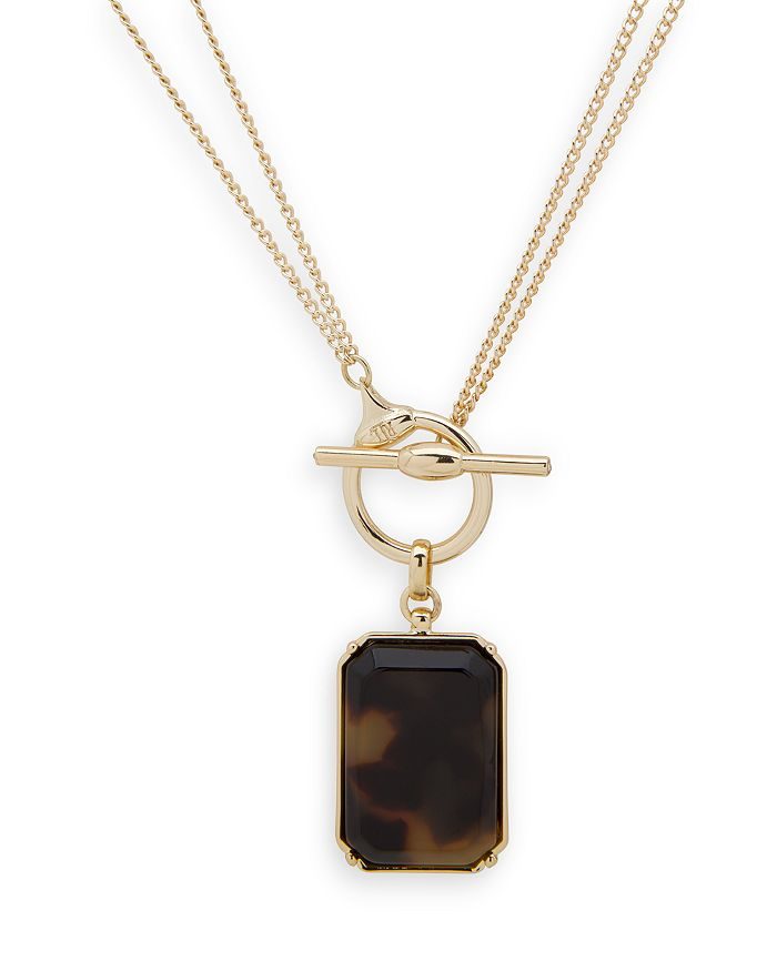 "Ralph Lauren - Convertible Rectangular Pendant Necklace, 16"", 36"""
