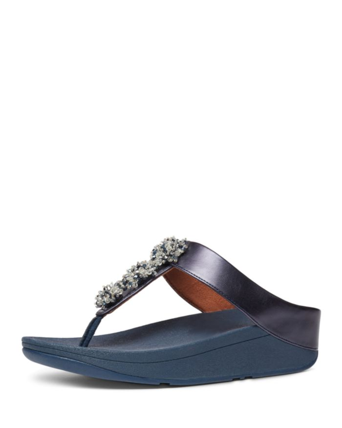 FitFlop Women's Galaxy Wedge Thong Sandals  | Bloomingdale's