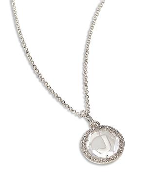 Nadri Initial Sparkle Necklace, 16