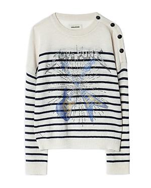 Zadig & Voltaire Girls\\\' Ava Wool Blend Graphic Sweater - Little Kid, Big Kid-Kids
