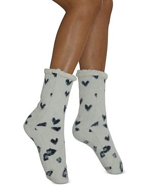 Leopard Love Faux Fur Slipper Socks