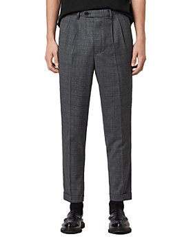 ALLSAINTS - Batalha Plaid Cropped Slim Fit Pleated Pants