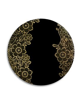 NOMI K - Elegant Flower Glass Placemat