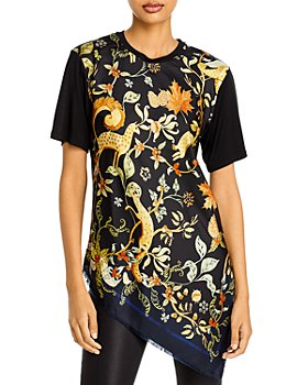 Lanvin - Printed Asymmetrical Top
