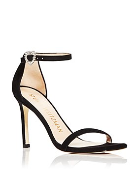 Stuart Weitzman - Women's Amelina Heart Square Toe High Heel Sandals