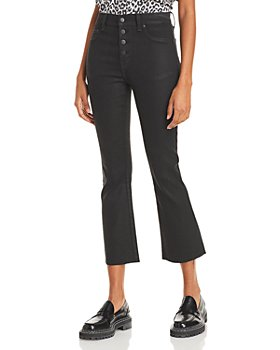 Pistola - Lennon High Rise Cropped Jeans in Coated Black