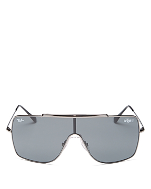 Ray-Ban Unisex Brow Bar Shield Sunglasses, 135mm