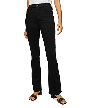 by 7 For All Mankind Slim Bootcut Jeans in Classic Black Noir