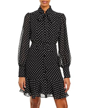 AQUA - Sheer Polka Dot Dress – 100% Exclusive