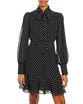 AQUA - Sheer Polka Dot Dress – 100% Exclusive