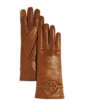 Tory Burch - Miller Cashmere Lined Leather Gloves