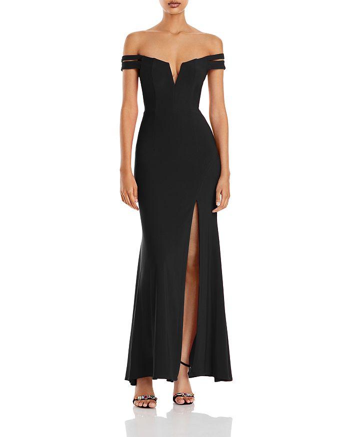 AQUA - Off-the-Shoulder Gown - 100% Exclusive