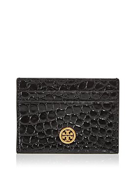 Tory Burch - Robinson Croc Embossed Leather Card Case
