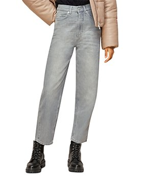Whistles - Authentic High-Rise Barrel-Leg Jeans in Grey