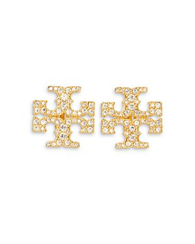 Tory Burch - Kira Pavé Clip-On Earrings
