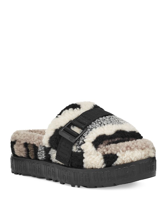 UGG® Women's Fluffita Camouflage Faux Shearling Slippers  | Bloomingdale's