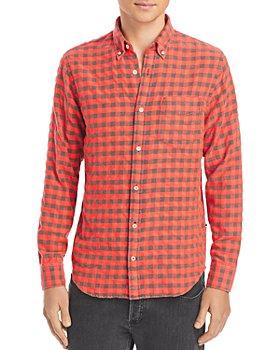 NN07 - Levon Checked Flannel Button Down Shirt