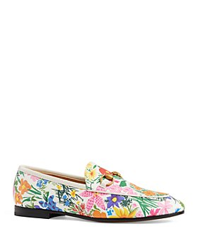 Gucci - x Ken Scott Women's Jordaan Floral Print Leather Loafers