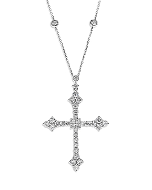 Bloomingdale's Diamond Cross Pendant Necklace in 14K White Gold, 2.50 ct. t.w. - 100% Exclusive