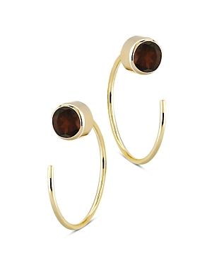 Bloomingdale's Garnet Stud and Front Back Hoop Earrings in 14K Yellow Gold - 100% Exclusive
