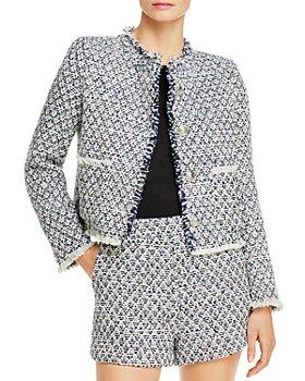 AQUA - Tweed Cropped Jacket - 100% Exclusive