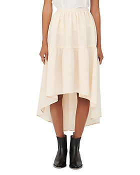 Maje - Jolita High-Low Midi Skirt