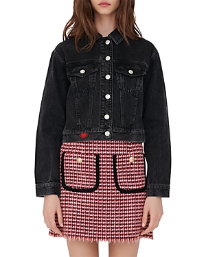 Maje BARRY CHARCOAL DENIM JACKET