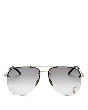 Saint Laurent - Unisex Brow Bar Aviator Sunglasses, 59mm