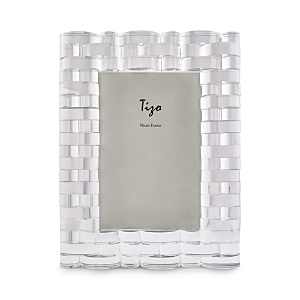 Tizo Clear Curved Bricks Crystal Glass 4 x 6 Picture Frame