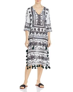Sketchy Scroll Tunic Dress