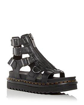 Dr. Martens - Women's Olson Caged Zip Buckle Platform Sandals