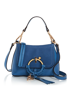 See By Chloé Leathers SEE BY CHLOE JOAN MINI LEATHER & SUEDE HOBO