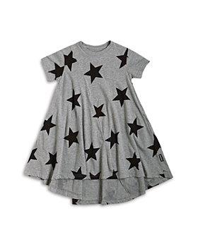 NUNUNU - Girls' Star Print High/Low Dress - Little Kid