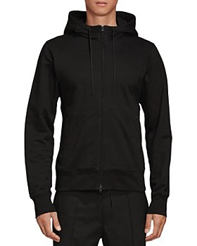 Y-3 - Logo French Terry Zip Front Hoodie