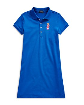 Ralph Lauren - Girls' Bear Polo Dress - Little Kid, Big Kid