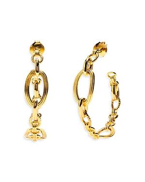Monique Chain Hoop Earrings