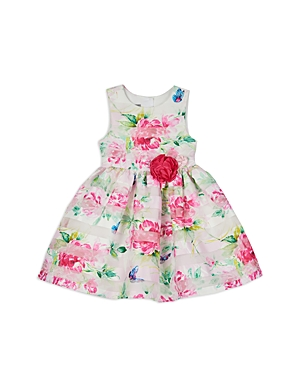 Pippa & Julie GIRLS' FLORAL BUTTERFLY DRESS - LITTLE KID