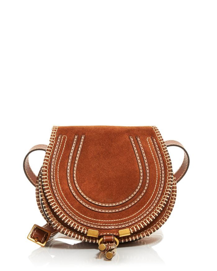 Chloé Marcie Small Leather Crossbody    Bloomingdale's