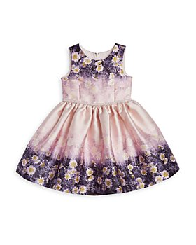 Pippa & Julie - Girls' Girls' Double-Border Floral Dress - Little Kid, Big Kid