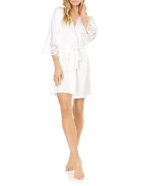 Kylie Embroidered Wrap Robe