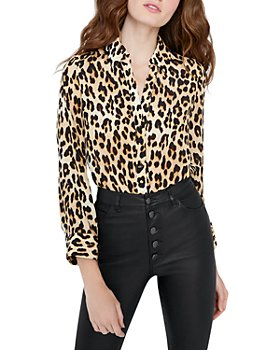 Alice and Olivia - Eloise Leopard Print Blouse