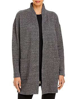 Eileen Fisher - High Collar Open Jacket